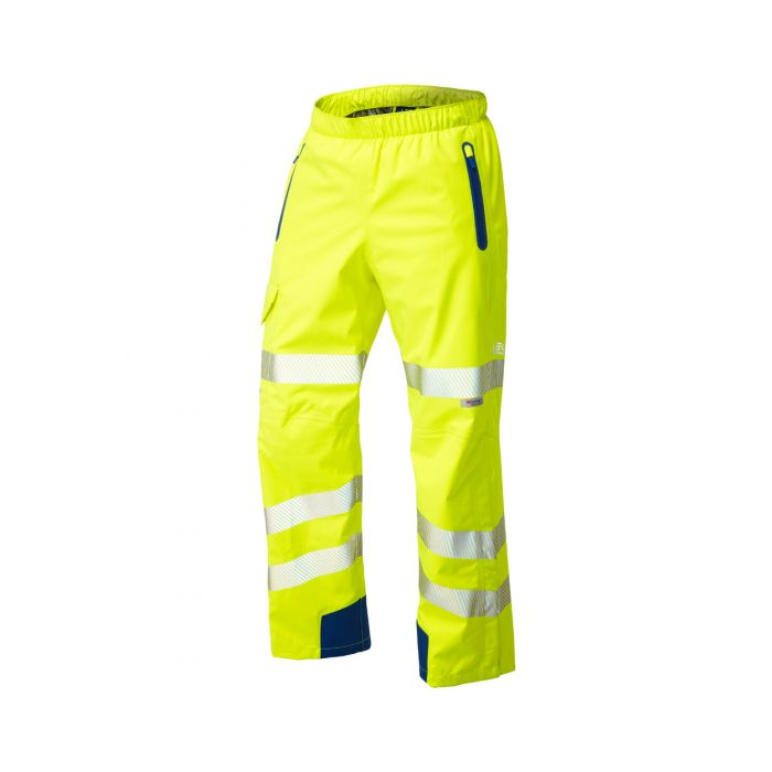 Lundy ISO 20471 Class 2 High Performance Waterproof Overtrouser Yellow L20 Y