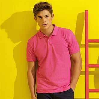 Men's twisted yarn polo