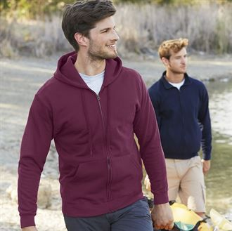 Classic 80/20 hooded sweatshirt jacket