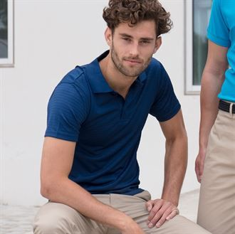 Cooltouch® textured stripe polo