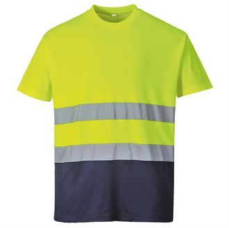Hi-vis two-tone cotton comfort t-shirt (S173)
