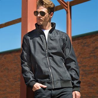 Stonewash denim softshell