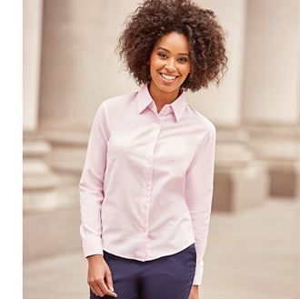 Women's long sleeve easycare Oxford shirt