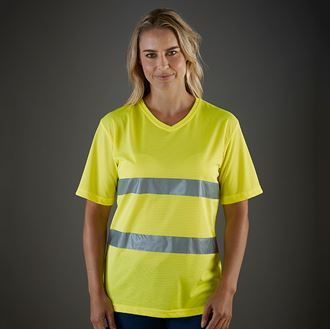 Hi-vis top cool super light v-neck t-shirt (HVJ910)