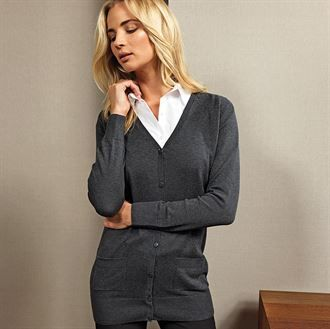 Women's longline knitted cardigan
