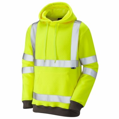 Goodleigh ISO 20471 Class 3 Hooded Sweatshirt Yellow