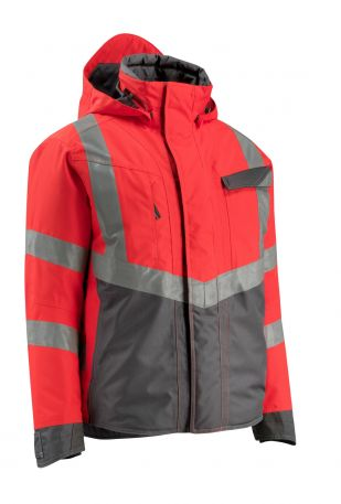 15535231 Hi Vis Jacket Hastings Hi Vis Red / Dark Anthracite