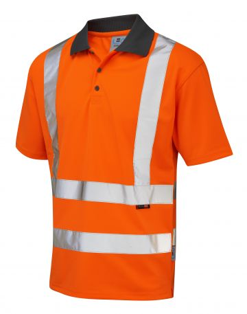 ROCKHAM ISO20471 CLASS 2 COOLVIZ POLO SHIRT ORANGE