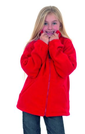 380GSM Childrens Full Zip Micro Fleece Jacket