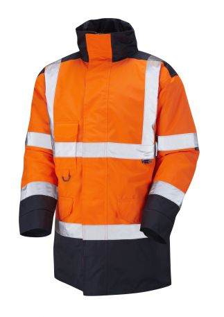 A01-O/NV Tawstock Hi Vis Jacket Orange / Navy