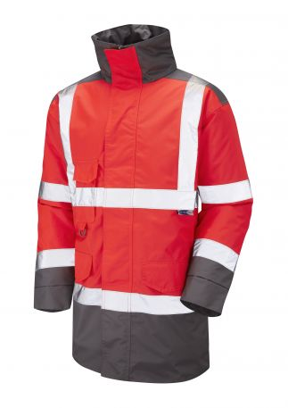 A01-R/GY Tawstock Hi Vis Jacket Red / Grey