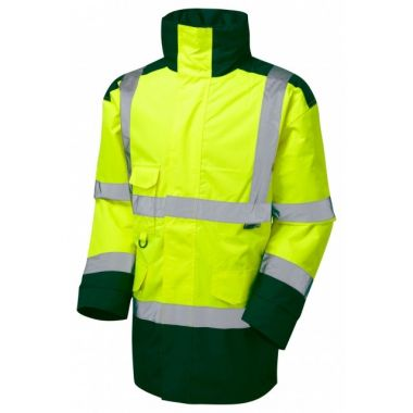 A01-Y/BT Tawstock Hi Vis Jacket Yellow / Bottle Green