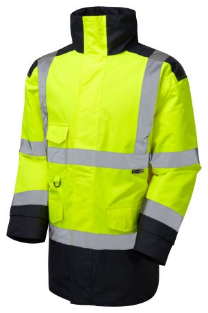 A01-Y/NV Tawstock Hi Vis Jacket Yellow / Navy