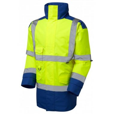 A01-Y/RO Tawstock Hi Vis Jacket Yellow / Royal Blue