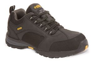 Apache AP318SM Black leather/mesh safety trainer