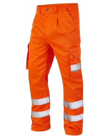 CT01-O Hi Vis Bideford Cargo Trousers Orange GO/RT3279