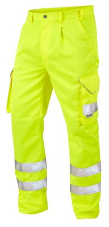 CT01-Y Hi Vis Bideford Cargo Trousers Yellow