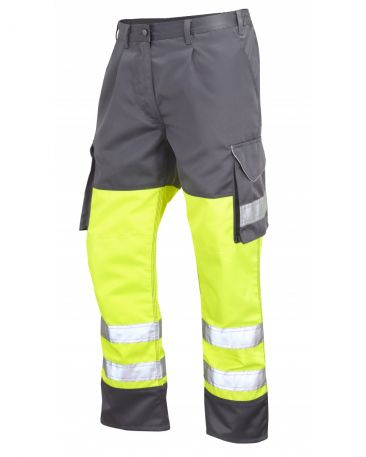 CT01-O Hi Vis Bideford Cargo Trousers Orange/ Navy Yellow/Grey