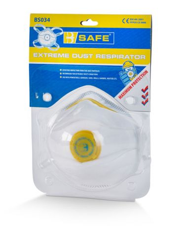 Pre-packed P3 Valved Mask