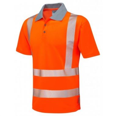 P03-Y Wollacombe Hi Vis Coolviz Plus Polo Shirt Orange