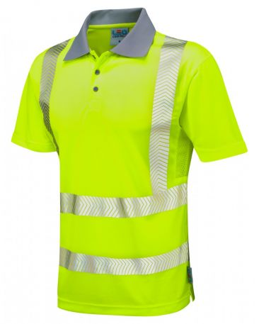 P03-Y Wollacombe Hi Vis Coolviz Plus Polo Shirt Yellow