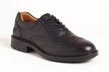 Black Brogue Executive Shoe Sterling Steel