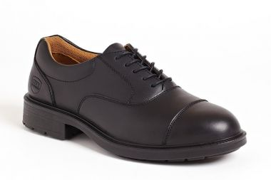 Black Oxford Executive Shoe Sterling Steel